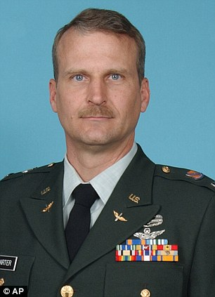 Army Chief Warrant                              Officer 4 David R. Carter. Carter, a 47-year-old pilot from Aurora, Colo.